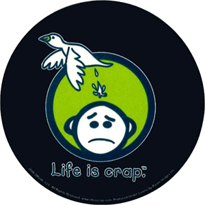 Life Is Crap Logo Round Sticker Image