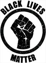 Black Lives Matter Fist Mini Poster Image