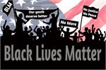 Black Lives Matter Crowd Signs Mini Poster  Image