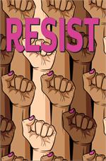 Female Resist Fist Mini Poster Image