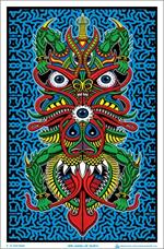 Angel of Death by: Chris Dyer Flocked Black Light Poster