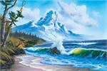 Bob Ross Waves Crashing Poster - 24