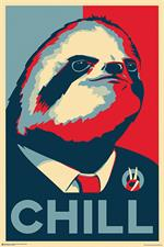 "Chill Sloth Poster - 24"" x 36"""