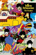 The Beatles Yellow Submarine Collage Poster Image