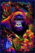 Gorilla Encounter Non-Flocked Blacklight Poster Image