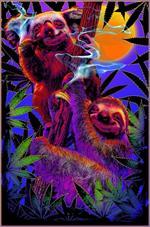 High In The Bush Sloth/Koala Non-Flocked Blacklight Poster Image