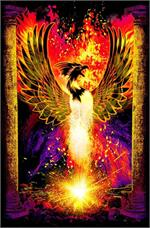 Phoenix Rebirth Non-Flocked Blacklight Poster Image