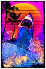 Shark Breach Non-Flocked Blacklight Poster Image