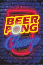 Beer Pong Neon Non-Flocked Blacklight Poster Image