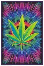 Canna Vibes Non-Flocked Blacklight Poster Image