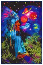 Peace Pipe Universe Non-Flocked Blacklight Poster Image
