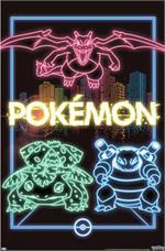 Pokemon - Neon Group Poster Image