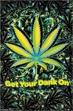 Marijuana Neon Poster Image