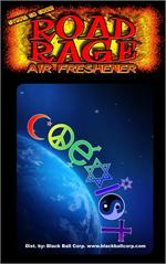 Coexist Road Rage Air Freshener