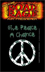 Give Peace A Chance  Road Rage Air Freshener