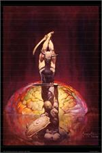 THE BRAIN - By: FRANK FRAZETTA - POSTER - 24