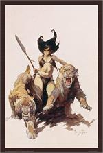 THE HUNTRESS - By: FRANK FRAZETTA - POSTER - 24