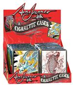 Ami James Ink Leather Cigarette Case Display - 100's - 12 ct.
