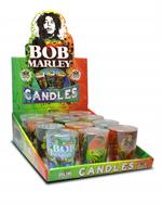 Bob Marley Large Round Shot Glass Candle - 12ct
