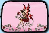 COSMETIC BAG - AMY BROWN - ROSE RED  FAIRY
