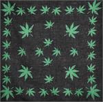 Green Marijuana Leaf Bandana 21