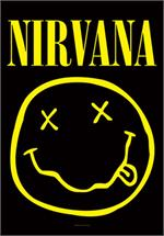 NIRVANA - SMILEY FABRIC POSTER - 30