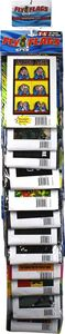 Fly Flags Blacklight Reactive Designs Assorted 12pc Clip Strip Display Image