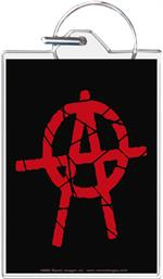 Anarchy Keychain Clear Background Image