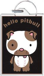 Hello Pitbull Keychain Clear Background Image