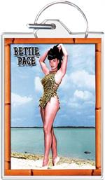 Bettie Page - Beach Keychain Clear Background Image
