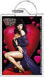 Bettie Page - Heart Keychain Image