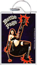 Bettie Page - Dance Keychain Clear Background Image