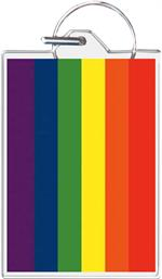 Pride Flag Keychain Clear Background Image