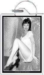 Bettie Page - Satin Keychain Clear Background Image