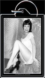 KEYCHAIN - BETTIE PAGE - SATIN