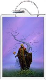 Destroying Angel - Michael Whelan - Keyring Clear Background Image