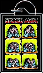 STONED AGIN - BY: R. CRUMB - KEYRING