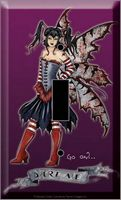 LIGHT SWITCH PLATE - DARE ME  FAIRY - AMY BROWN