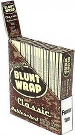 Blunt Wrap Classic Unbleached Rolling Papers - King Size Slim - 25pk/25cs