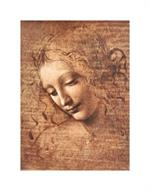 La Scapigliata (Female Head) by Da Vinci Mini Poster Image