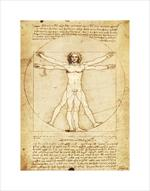 Vitruvian Man by Da Vinci Mini Poster Image