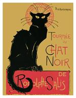 Chat Noir by Theophile Steinlen Vintage Advertising Mini Poster Image