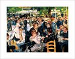Le Moulin de la Gallette by Renoir Poster Image