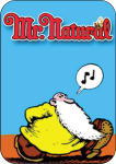 R. CRUMB - MR. NATURAL WHISTLING LARGE STICKER - 2 1/2