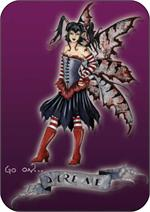 AMY BROWN - DARE ME  FAIRY LARGE STICKER - 2 1/2