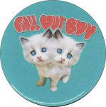 FALL OUT BOY KITTENS ROUND STICKER - 2 1/2