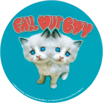 Fall Out Boy Kittens Round Sticker Image