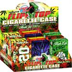 Nulite Pop-Up Cig Case Smoking 420 Design - 100's Size - 12ct/20cs