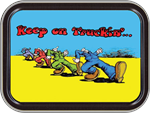R. Crumb - Keep On Trucking Large Stash Tin Image