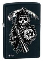 SONS OF ANARCHY - BLACK MATTE - ZIPPO 28504